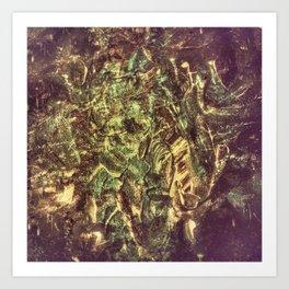 Twisted Denim Art Print