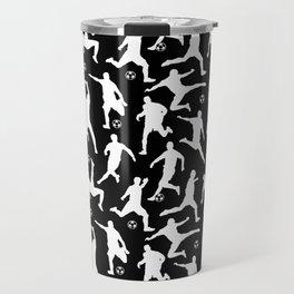 Soccer Players // Black Travel Mug