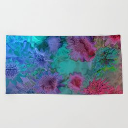 Flowers abstract #2 Beach Towel