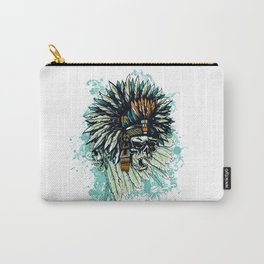 AZTEC WARRIOR SKULL SQUARE Carry-All Pouch
