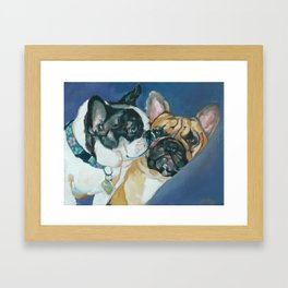 Fanci-Pants and Louie French Bulldogs Framed Art Print