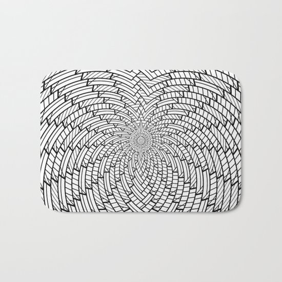 sweeping black and white 3 Bath Mat
