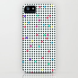 Colorful Dots on Black and White iPhone Case