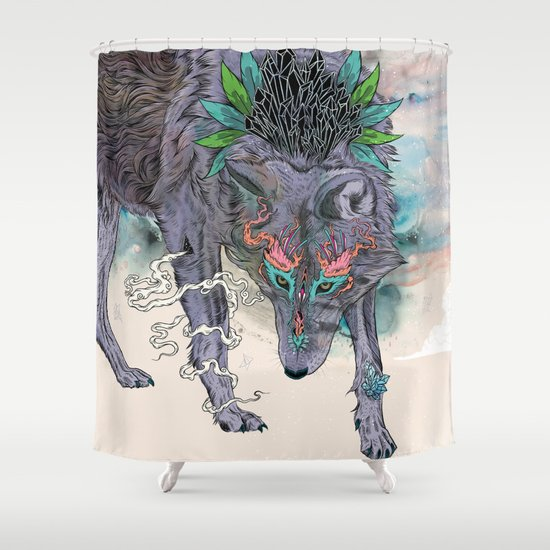Journeying Spirit (wolf) Shower Curtain