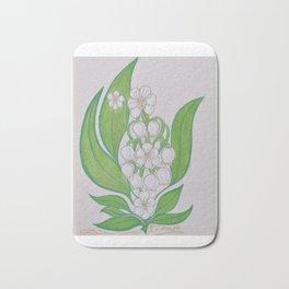 Flor De Fantasias Lily Of The Valley Bath Mat