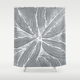 Doodled Aura-Leah DM02 Silver Gray Shower Curtain