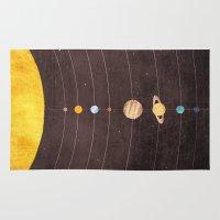 solar system Area & Throw Rugs featuring Solar System by Annisa Tiara Utami