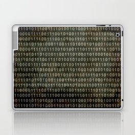 The Binary Code - Distressed textured version Laptop & iPad Skin
