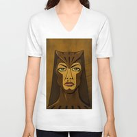 watchmen V-neck T-shirts featuring It's Always Sunny in Watchmen - Sweet Dee by Jessica On Paper