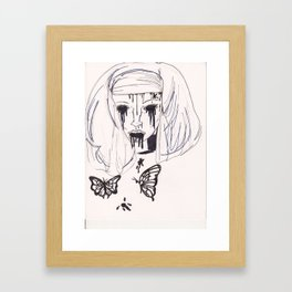 blakc butterflies Framed Art Print