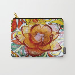 the crystal flower and multiple colors Carry-All Pouch