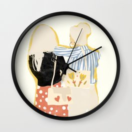 Fashion Friends Wall Clock