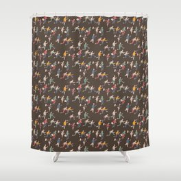 hurry up! Shower Curtain