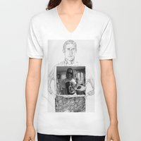 ryan gosling V-neck T-shirts featuring Ryan Gosling wearing Macaulay Culkin wearing Ryan Gosling wearing Macaulay Culkin  by withapencilinhand