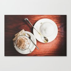 latte and hot chocolate Canvas Print