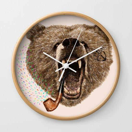 Angry Bear Wall Clock