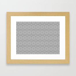 Shades of Grey Pattern A171C Framed Art Print