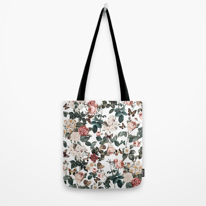 Floral and Butterflies II Tote Bag