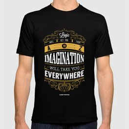 Lab No. 4 - Logic And Imagination from Albert Einstein Inspirational Quotes Poster T-shirt