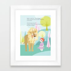 Aslan & Lucy Talking Framed Art Print