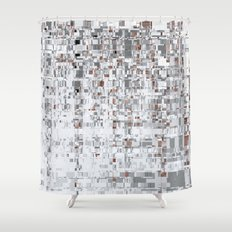 Abstract Architecture Grey Shower Curtain