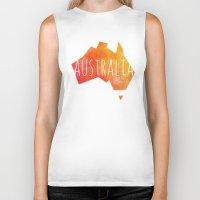 australia Biker Tanks featuring Australia by Stephanie Wittenburg