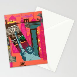 Mews in NewYork (Typography) Stationery Cards