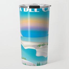 Playa del Carmen, Mexico - Skyline Illustration by Loose Petals Travel Mug