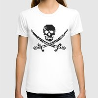 8bit T-shirts featuring 8bit piracy  by cadaver138