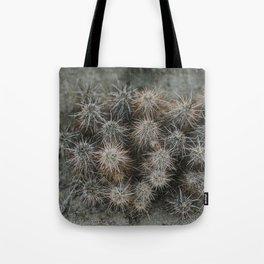 Monochrome Cactus in Joshua Tree National Park, California Tote Bag