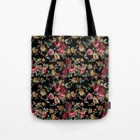 vintage flowers Tote Bags featuring Vintage Flowers by Eduardo Doreni