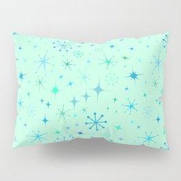 Atomic Starry Night in Mod Mint Pillow Sham