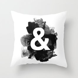 Ampersand Paint Throw Pillow
