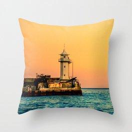 Old Lighthouse Throw Pillow