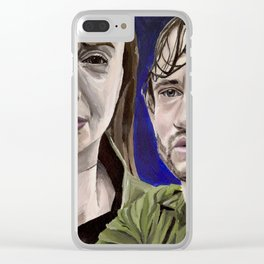Abigail and Will, acrylic painting Clear iPhone Case