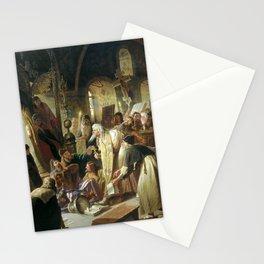 Vasily Perov - Nikita Pustosvyat Debate about faith Stationery Cards