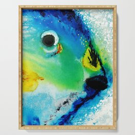 Tropical Fish 2 - Abstract Art By Sharon Cummings Serving Tray