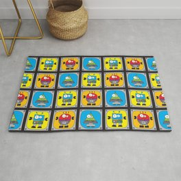 Robot Shapes Rug
