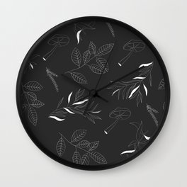 Botanical Print Wall Clock