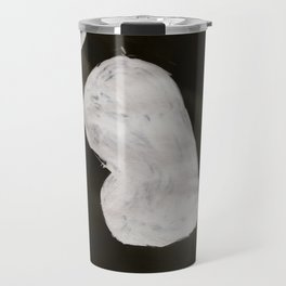 Bump, Abstract, White & Black Travel Mug