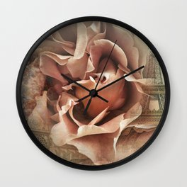 Romance in Paris Wall Clock