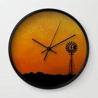 kansas Wall Clocks featuring Kansas by RDelean