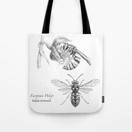 European Wasp, Vespula germanica  Tote Bag