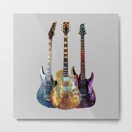 Sounds of music.Three Guitars. Metal Print
