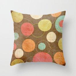 pattern grundgy circles Throw Pillow