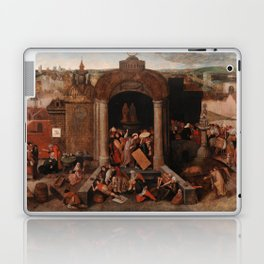 Christ Driving the Traders from the Temple, Pieter Bruegel the Elder Laptop & iPad Skin