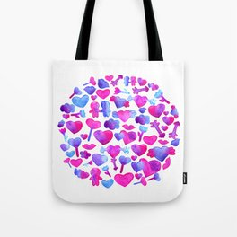 Watercolor romantic design Tote Bag
