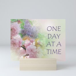 One Day at a Time Spring Flowers Mini Art Print