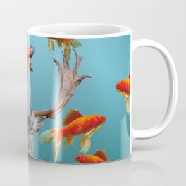 Deer with goldfishes swimming around Coffee Mug