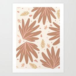 tiny jungle - warm Art Print